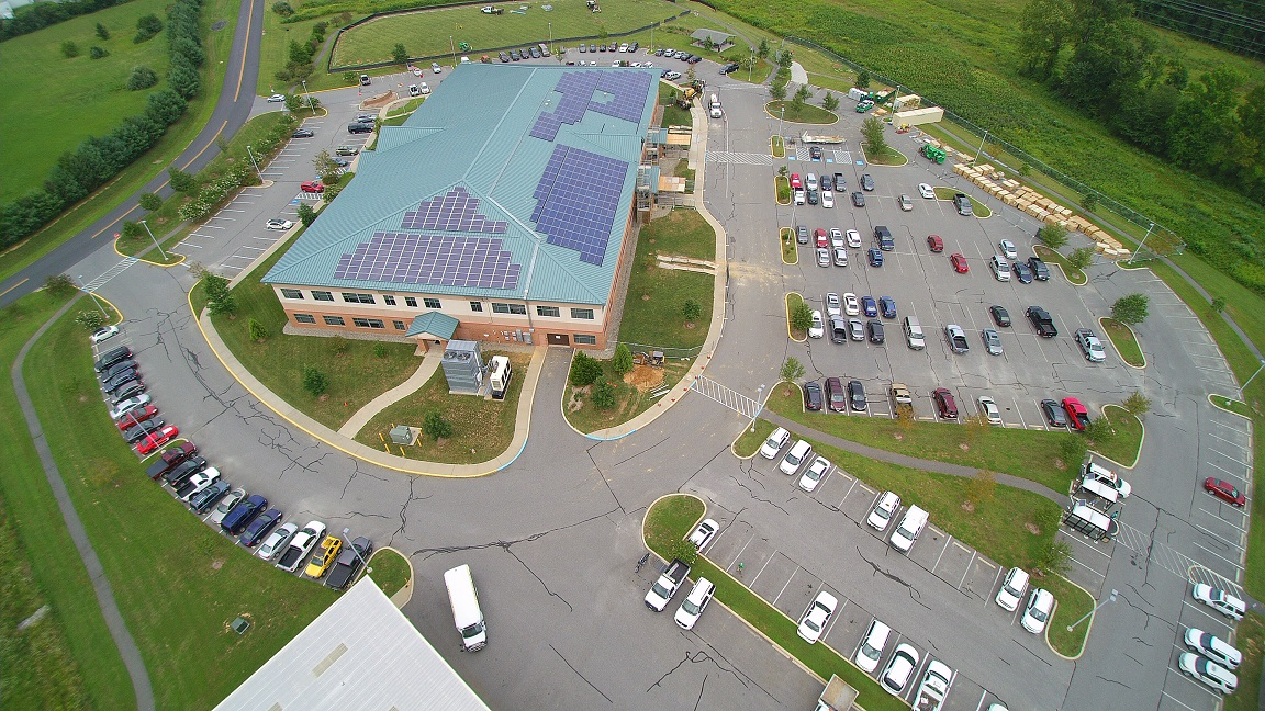 Aerial  of Administration and solar array