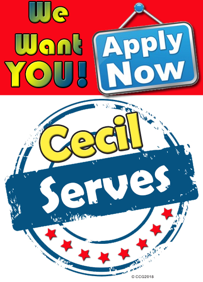 cecil serves we want you apply now
