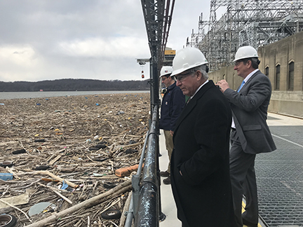 County Officials Visit Exelon to Discuss Debris Issues at Conowingo Dam