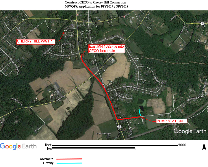 CECO Graphic re. Connection to Cherry Hill Sewer System (27 Apr 18)