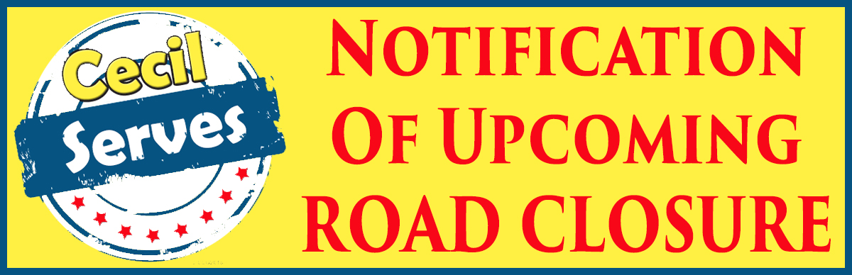 NOTIFICATION OF UPCOMING ROAD CLOSURE: Leeds Road