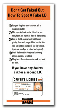 How to spot a fake ID brochure