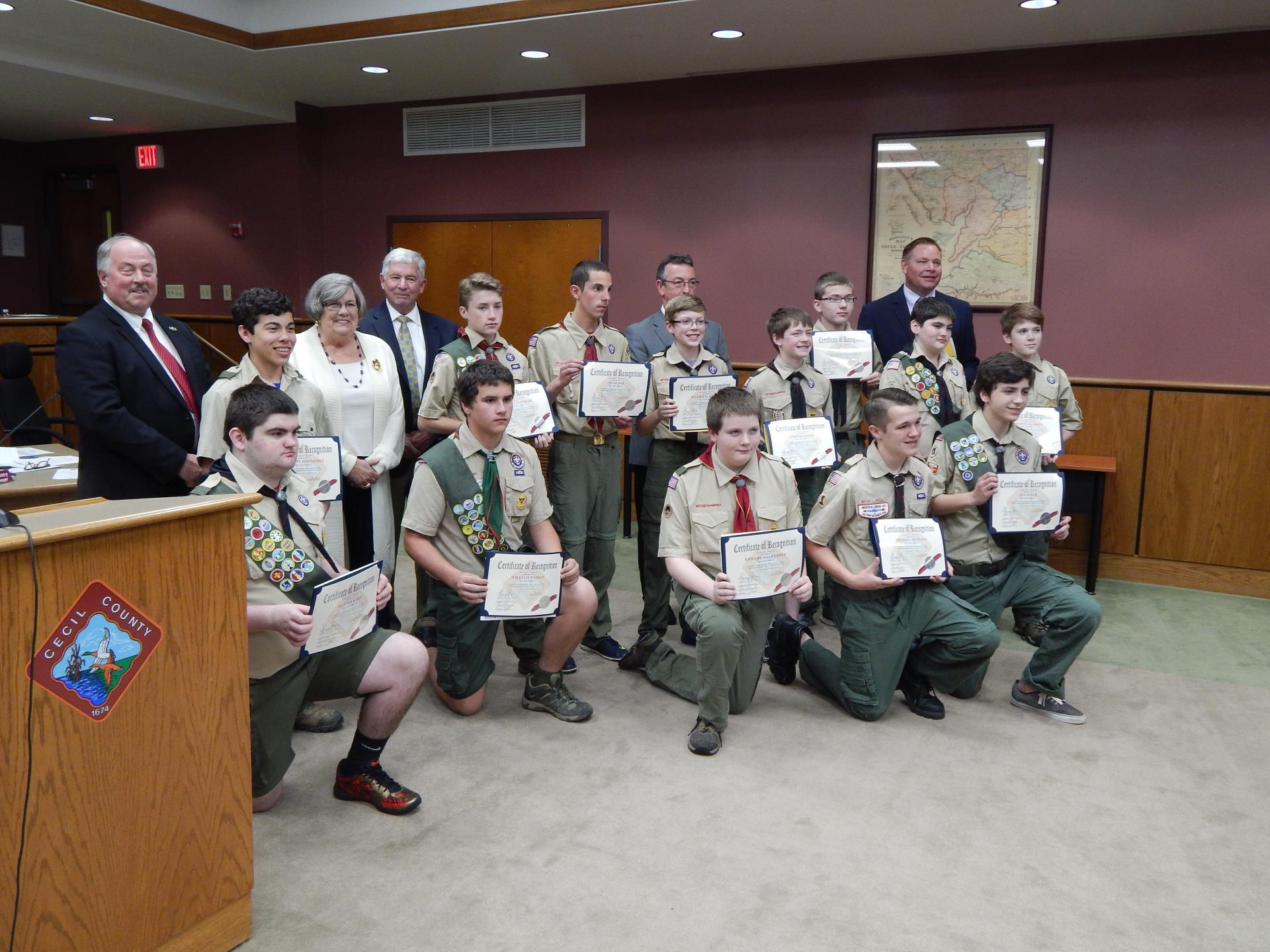 2016 Presentation to Boy Scouts First Class Rank