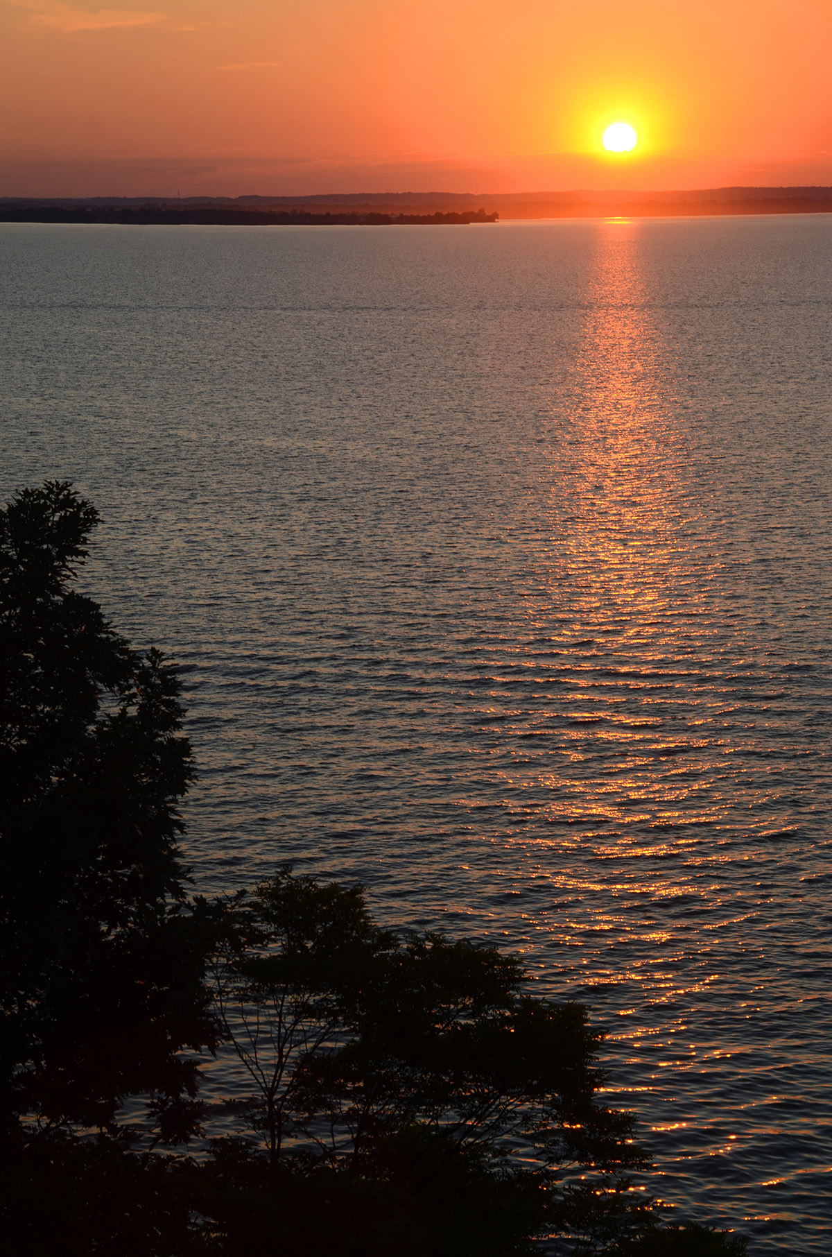A sunset view from the cliffs along the Susquehanna River