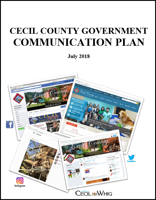 CECIL CO GOV COMMUNICATIONS PLAN Cover