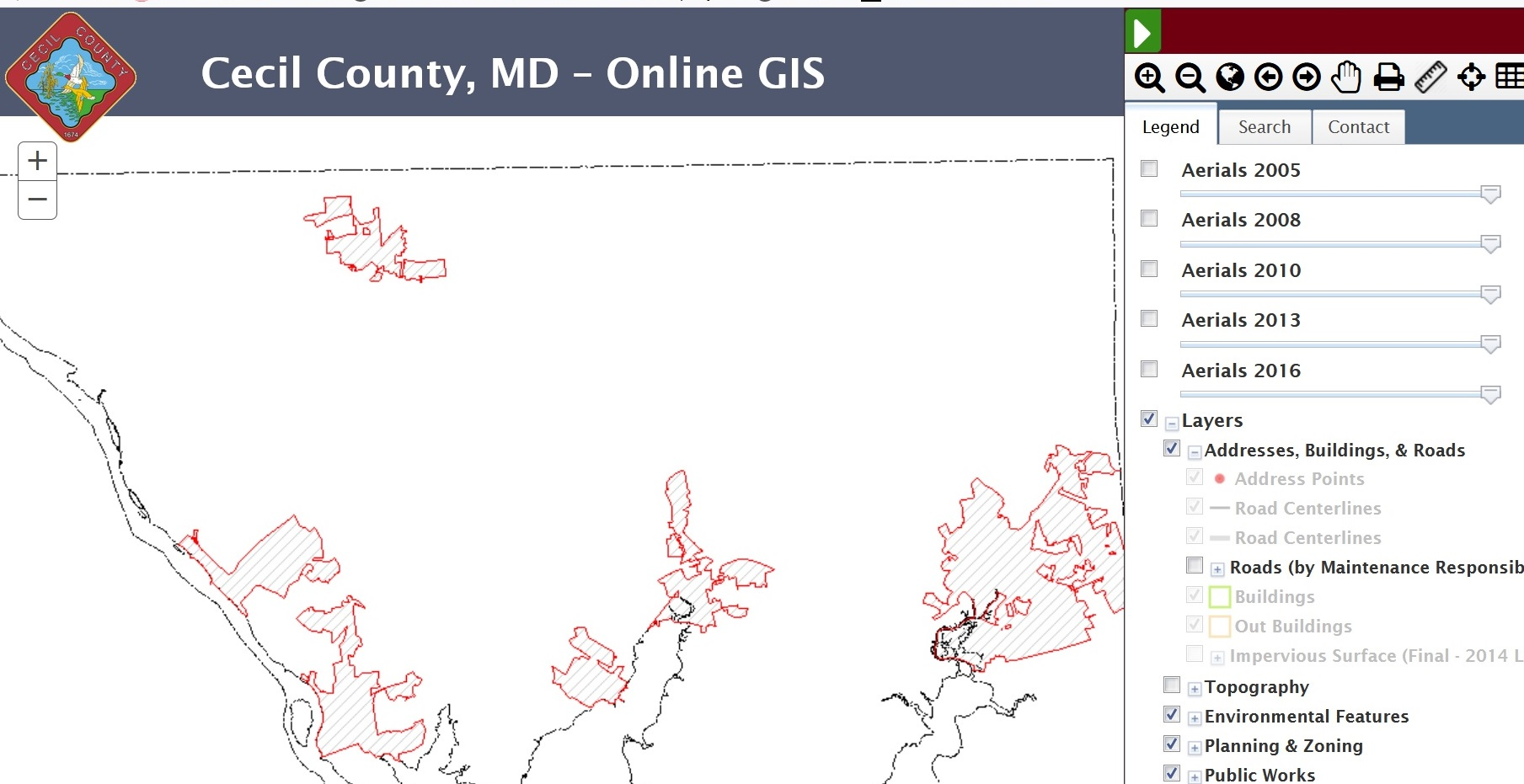 Geographic Information Systems | Cecil County on