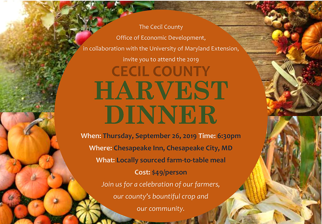 2019 Cecil County Harvest Dinner header