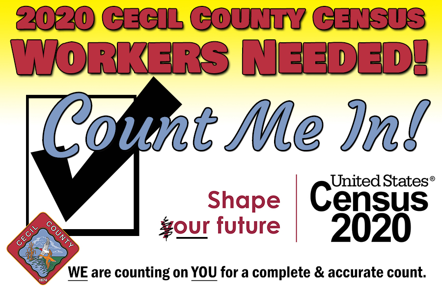 COUNT ME IN CENSUS 2020 workers needed small