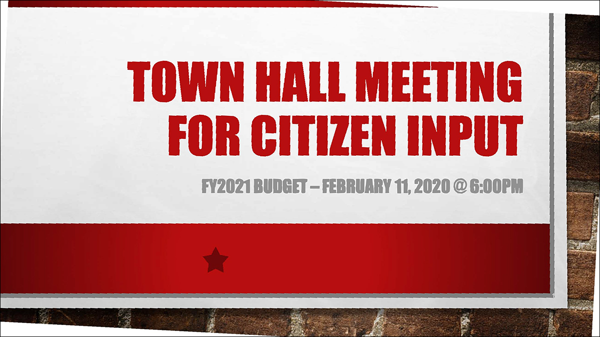 FY2021 TOWN HALL MEETING FOR CITIZEN INPUT red-1