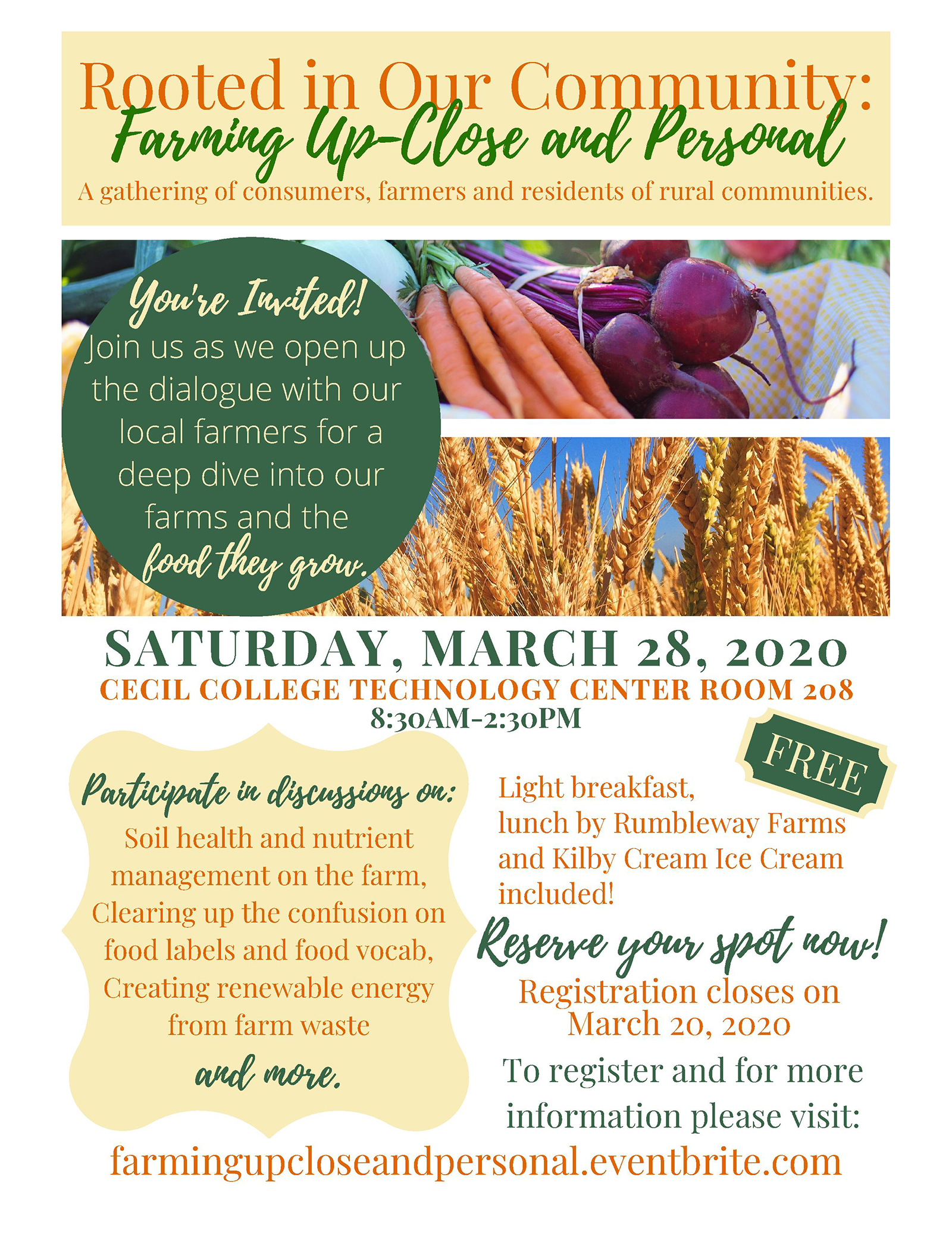 FLYER Rooted in Our Community_ Farming Up-Close and Personal red