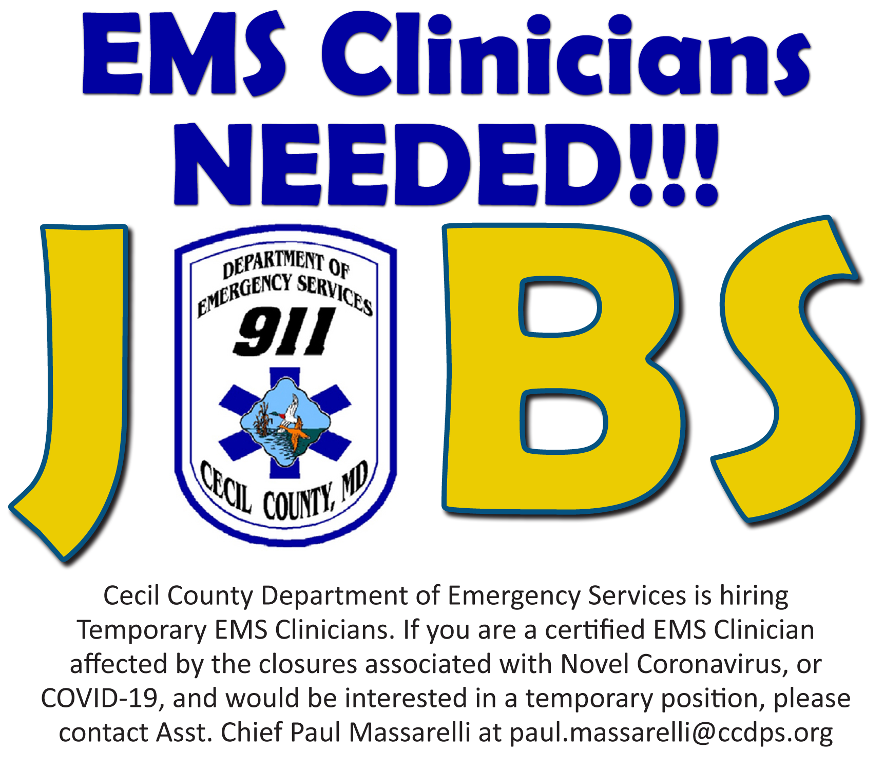 ems clinicians needed