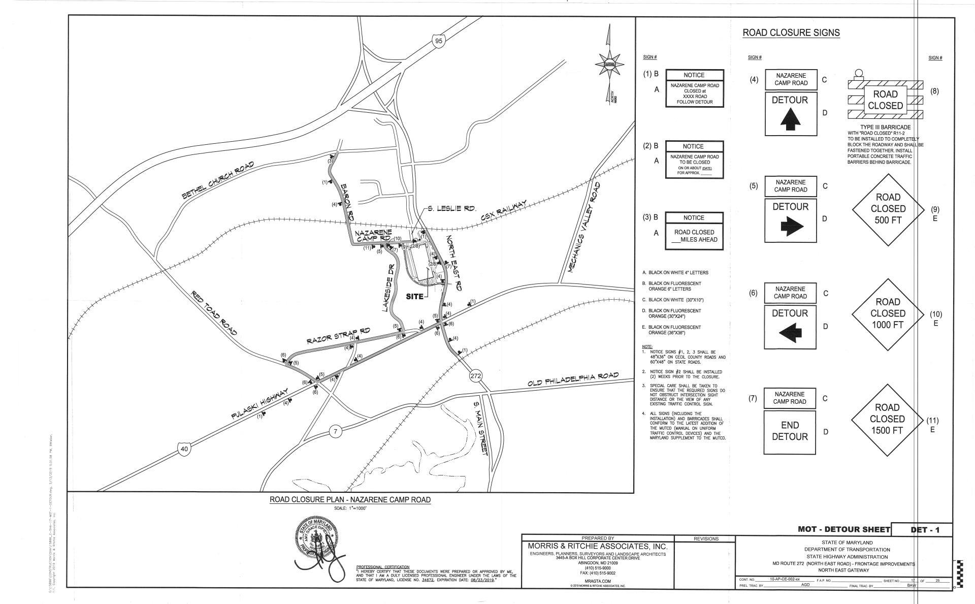 Nazarene Camp Road- Road Closure Plan